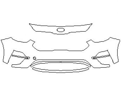 2021 KIA NIRO EV EX PREMIUM BUMPER KIT