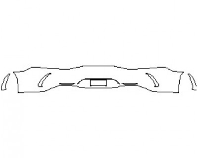 2021 MERCEDES AMG GT 63 4 DOOR COUPE REAR BUMPER KIT