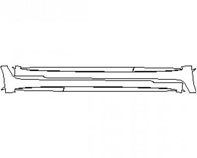 2021 MERCEDES AMG GT 63 4 DOOR COUPE ROCKER PANELS