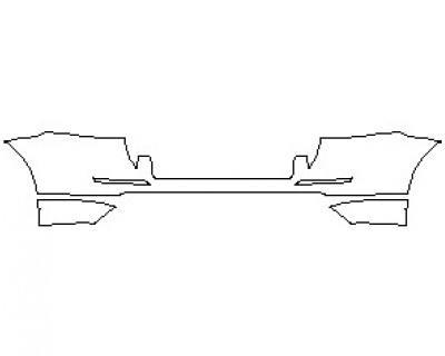 2021 MERCEDES ML CLASS 350 REAR BUMPER KIT
