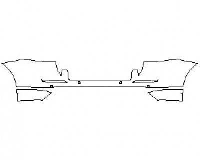 2021 MERCEDES ML CLASS 350 REAR BUMPER KIT WITH SENSORS