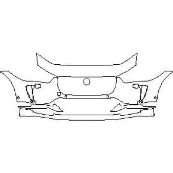 2021 JAGUAR I-PACE S BUMPER KIT WITH WASHERS & SENSORS