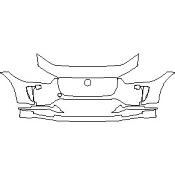 2021 JAGUAR I-PACE S BUMPER KIT WITH WASHERS