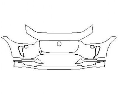 2021 JAGUAR I-PACE HSE BUMPER KIT WITH WASHERS