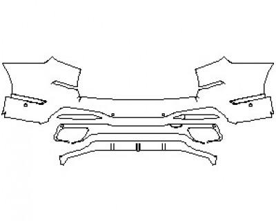 2020 BMW X7 M-SPORT REAR BUMPER WITH SENSORS