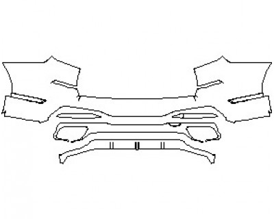 2020 BMW X7 M-SPORT REAR BUMPER