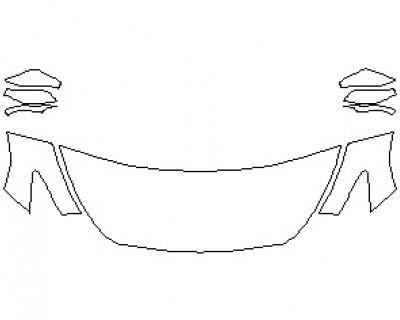 2021 INFINITI Q60 PREMIUM AWD HOOD KIT (WRAPPED EDGES)