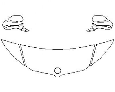 2021 BMW I8 ROADSTER HOOD KIT (WRAPPED EDGES)