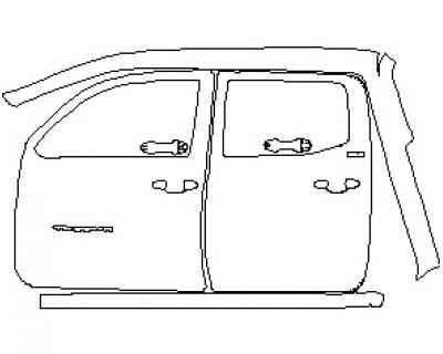 2021 TOYOTA TACOMA SR5 ACCESS CAB GRILLE