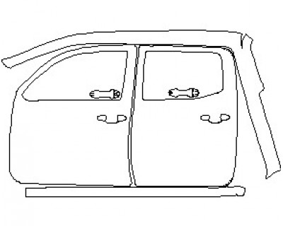 2021 TOYOTA TACOMA SR5 ACCESS CAB HOOD KIT (WRAPPED EDGES)