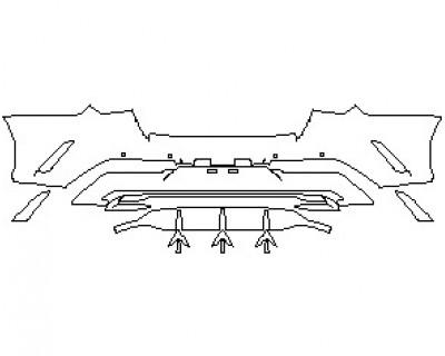 2021 KIA K5 LXS REAR BUMPER KIT WITH SENSORS