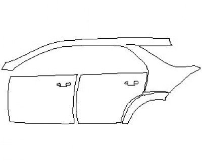 2021 MERCEDES GLE CLASS AMG 53 SUV REAR QUARTER PANEL & DOORS WITH SEAM LEFT SIDE