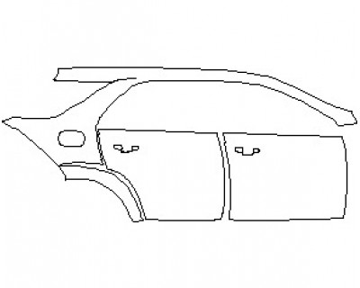 2021 MERCEDES GLE CLASS AMG 53 SUV REAR QUARTER PANEL & DOORS WITH SEAM RIGHT SIDE
