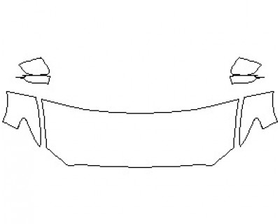 2021 LINCOLN CONTINENTAL RESERVE HOOD KIT (WRAPPED EDGES)