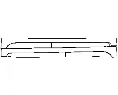 2020 FIAT 500L POP ROCKER PANELS