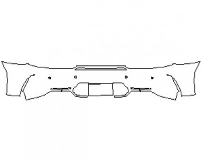 2021 MERCEDES AMG GT C COUPE REAR BUMPER KIT WITH SENSORS