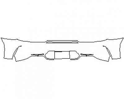 2021 MERCEDES AMG GT C COUPE REAR BUMPER KIT
