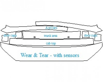 2021 FORD FUSION SEL WEAR & TEAR WITH SENSORS