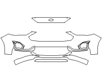 2021 FORD FUSION HYBRID TITANIUM BUMPER KIT WITHOUT LICENSE PLATE