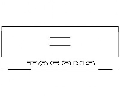 2021 TOYOTA TACOMA TRD SPORT TAILGATE MUST HAND CUT OR REMOVE AND REPLACE EMBLEM