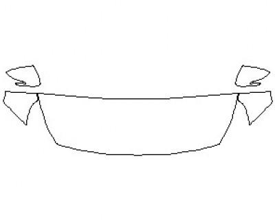 2021 HYUNDAI ELANTRA GT N LINE HOOD KIT (WRAPPED EDGES)