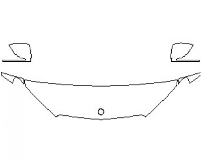 2021 MERCEDES GLE CLASS 450 SUV HOOD KIT (18 INCH) (WRAPPED EDGES)
