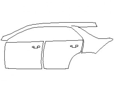 2021 MERCEDES GLE CLASS 450 SUV REAR QUARTER PANEL & DOORS WITH SEAM LEFT SIDE