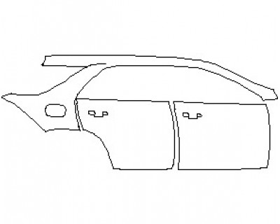 2021 MERCEDES GLE CLASS 450 SUV REAR QUARTER PANEL & DOORS WITH SEAM RIGHT SIDE