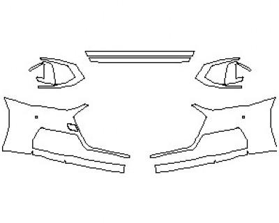 2021 AUDI S7 PRESTIGE BUMPER KIT WITH 2 SENSORS