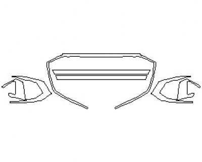 2021 AUDI S7 PRESTIGE GRILLE & BUMPER KIT INSERTS SPECIFY MATTE OR GLOSSY FINISH