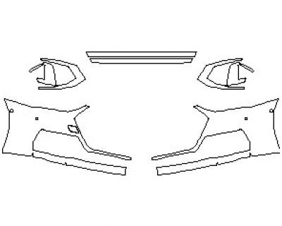 2021 AUDI S7 PRESTIGE BUMPER KIT WITH 4 SENSORS