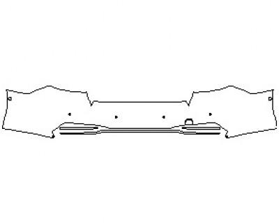2021 AUDI S7 PRESTIGE REAR BUMPER KIT WITH SENSORS