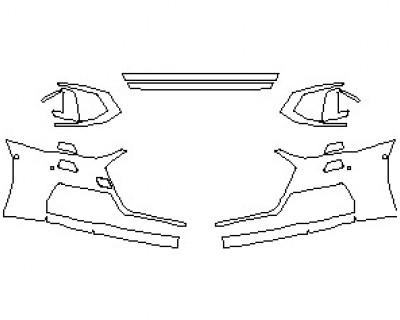 2021 AUDI S7 PRESTIGE BUMPER KIT WITH WASHERS & 4 SENSORS