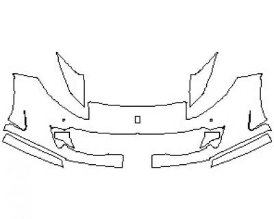 2022 FERRARI 812 SUPERFAST BUMPER KIT WITH SENSORS & CAMERA