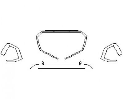 2021 AUDI S5 PREMIUM CABRIOLET HOOD KIT (18 INCH)