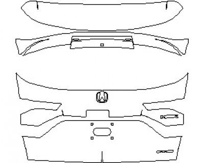 2022 ACURA MDX A-SPEC REAR HATCH WITH SH AWD EMBLEM
