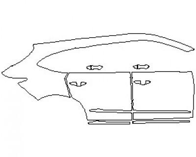 2022 ACURA MDX A-SPEC REAR QUARTERS & DOORS RIGHT