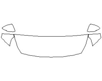 2021 HYUNDAI ELANTRA GT BASE HOOD KIT (WRAPPED EDGES)