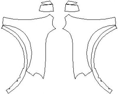 2021 DODGE DURANGO GT FULL FENDERS (WRAPPED EDGES)