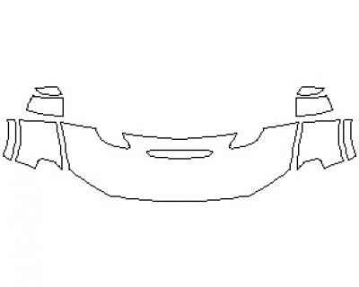 2021 DODGE DURANGO GT HOOD KIT (WRAPPED EDGES)