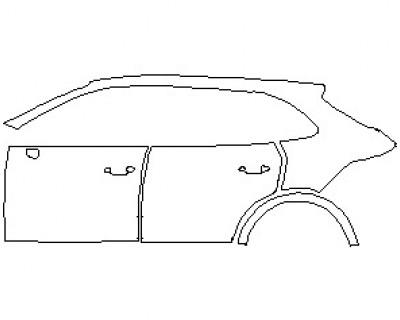 2020 PORSCHE CAYENNE E-HYBRID SUV REAR QUARTER PANEL and DOORS LEFT SIDE