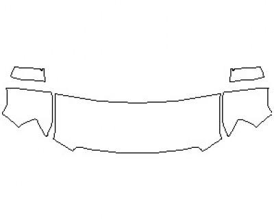 2021 GMC CANYON SLT CREW CAB HOOD KIT