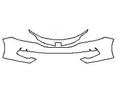 2017 HONDA ACCORD HYBRID BASE Bumper With Sensors