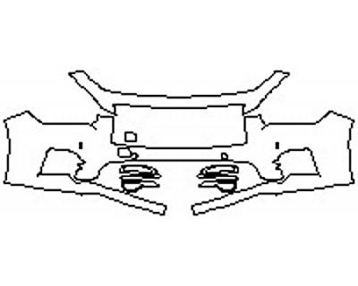 2017 INFINITI Q50 2.0T SPORT AWD Bumper With Sensors (2 Piece)