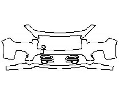 2017 INFINITI Q50 2.0T SPORT AWD Bumper (3 Piece)