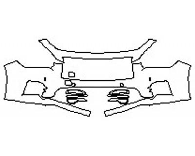 2017 INFINITI Q50 3.0T SPORT AWD Bumper With Sensors (2 Piece)