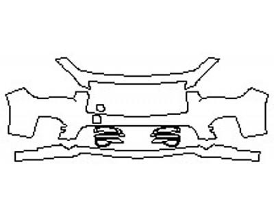 2017 INFINITI Q50 3.0T SPORT AWD Bumper (3 Piece)