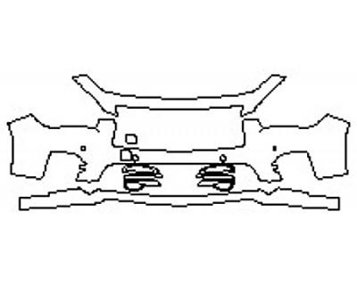 2017 INFINITI Q50 3.0T SPORT AWD Bumper With Sensors (3 Piece)