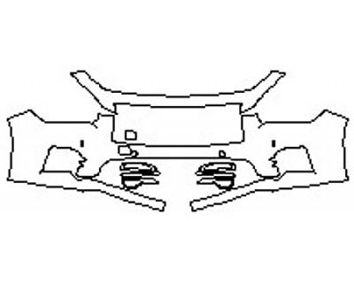 2017 INFINITI Q50 RED SPORT 400 Bumper With Sensors (2 Piece)