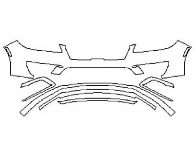 2020 LINCOLN MKZ RESERVE 300A Bumper